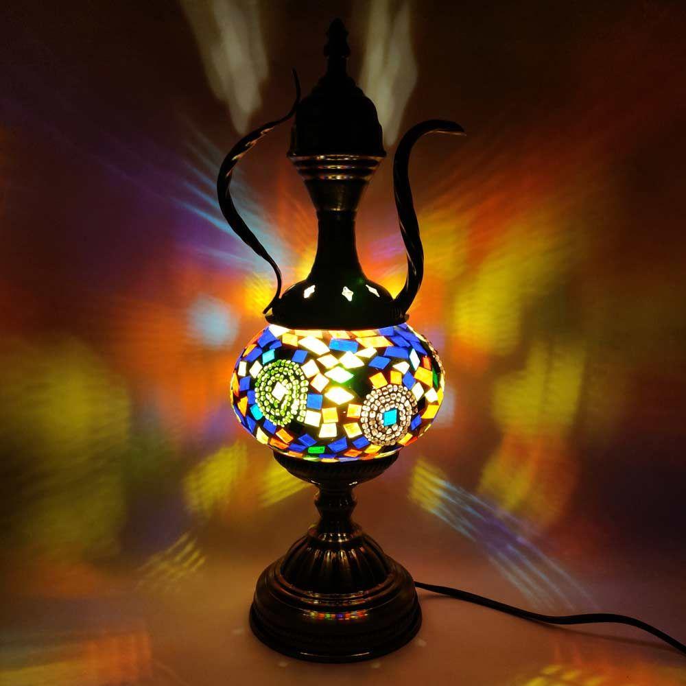 Multi Color Stone Turkish Table Lamp Lamp Multi Color Stones