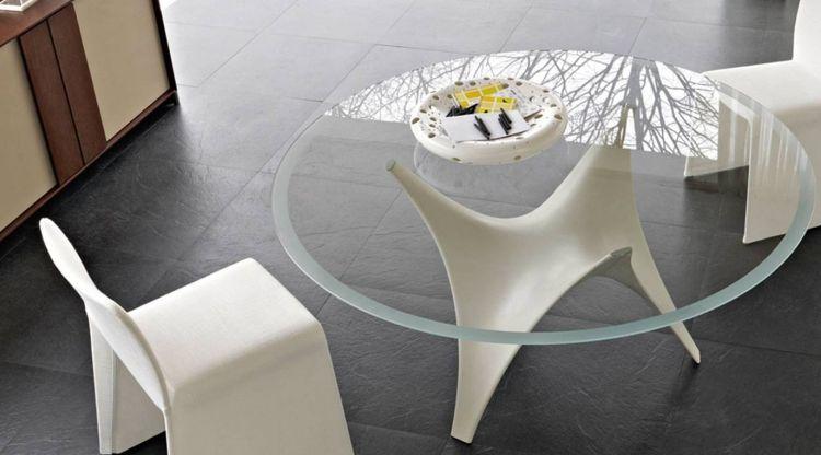 Moderner Runder Glastisch L Arc By Molteni Esstisch Esstisch Design Und Esstisch Modern