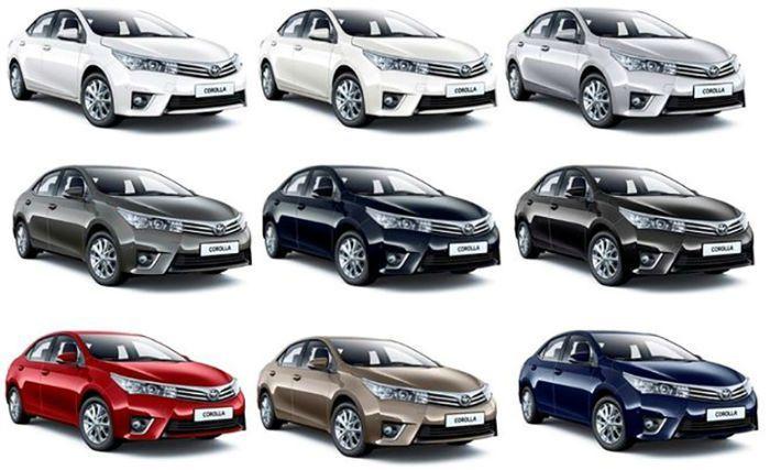 2017 Toyota Corolla Colors