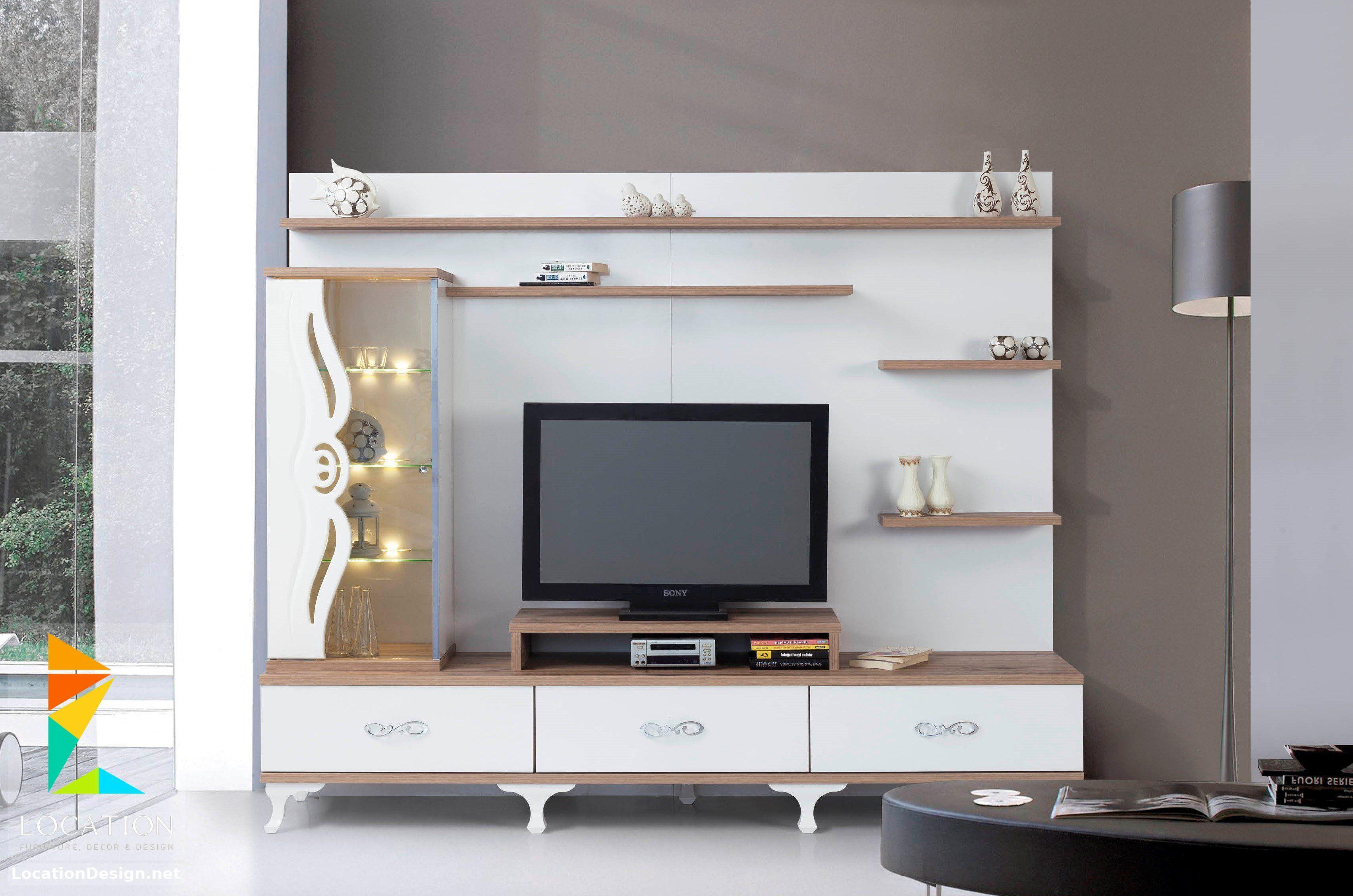 رفوف خشبية للتلفاز مكتبات شاشات Lcd مودرن Tv Unit Design Design Furniture
