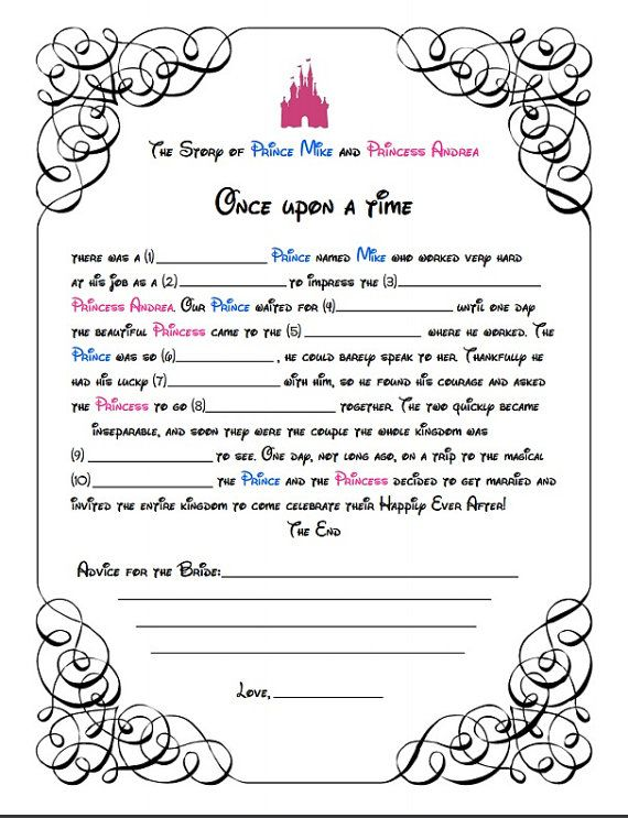 after looking for a wedding shower mad libs game i couldnt find one i liked