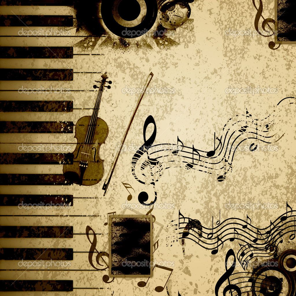 Music notes background — Stock Photo © SergeyNivens ...