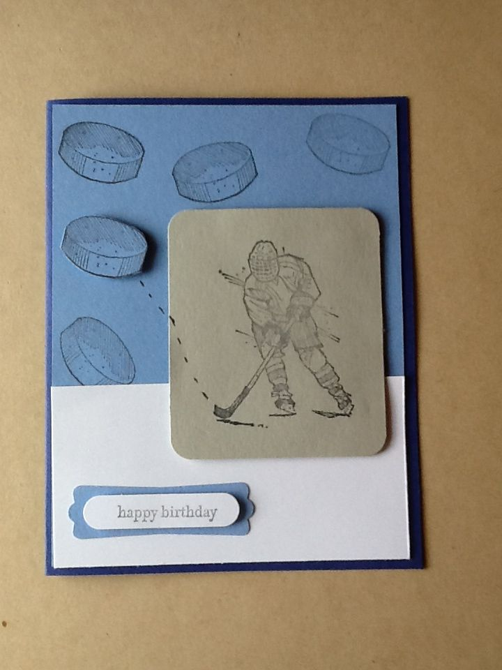 Hockey Birthday Cardampin Up On Ice Stampin Up Pinterest