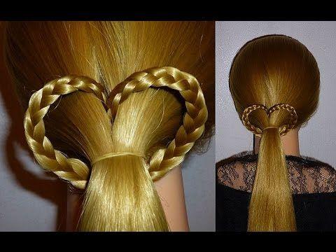 Herz Zopf Frisur Zum Valentinstag Flechten Ausgehfrisuren Zopffrisuren Flechten Lange Haare Ausgehfrisuren Geflochtene Frisuren