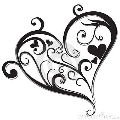Abstract Black Heart Stock Photography