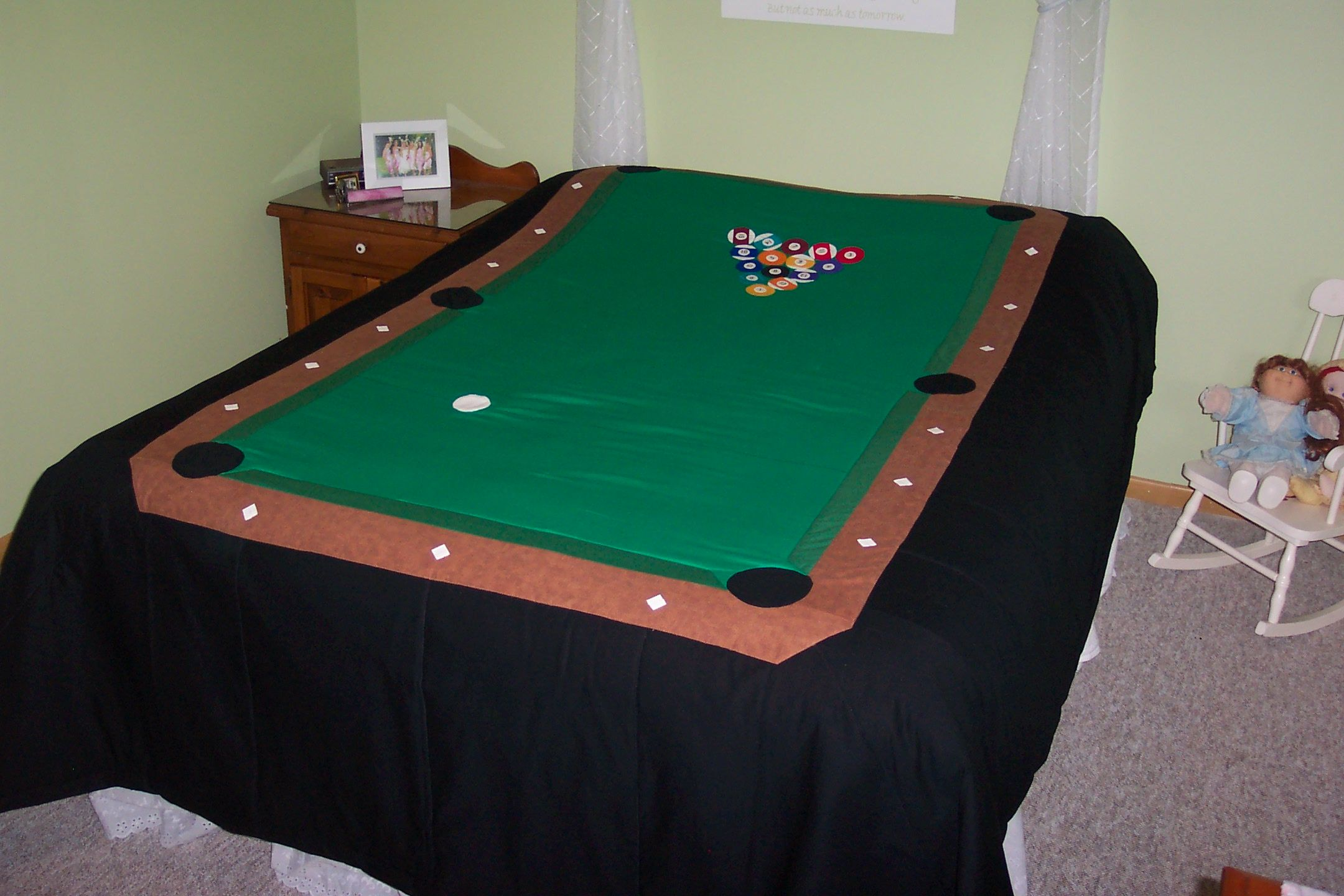 Pool Table Quilt Table Quilts Baby Quilts Diy Tablecloth