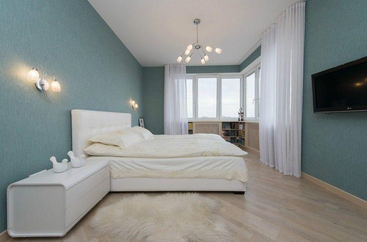 couleur de peinture pour chambre tendance en 18 photos chambres bleu ciel peinture pour. Black Bedroom Furniture Sets. Home Design Ideas