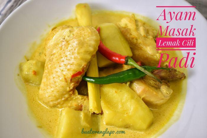 Ayam Masak Lemak Cili Padi Buat Orang Lapo Resep Masakan Asia Makanan Masakan
