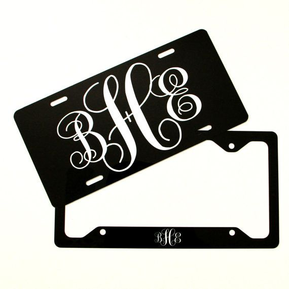 Classy Gift Set Front License Plate License Plate by ChicMonogram ...