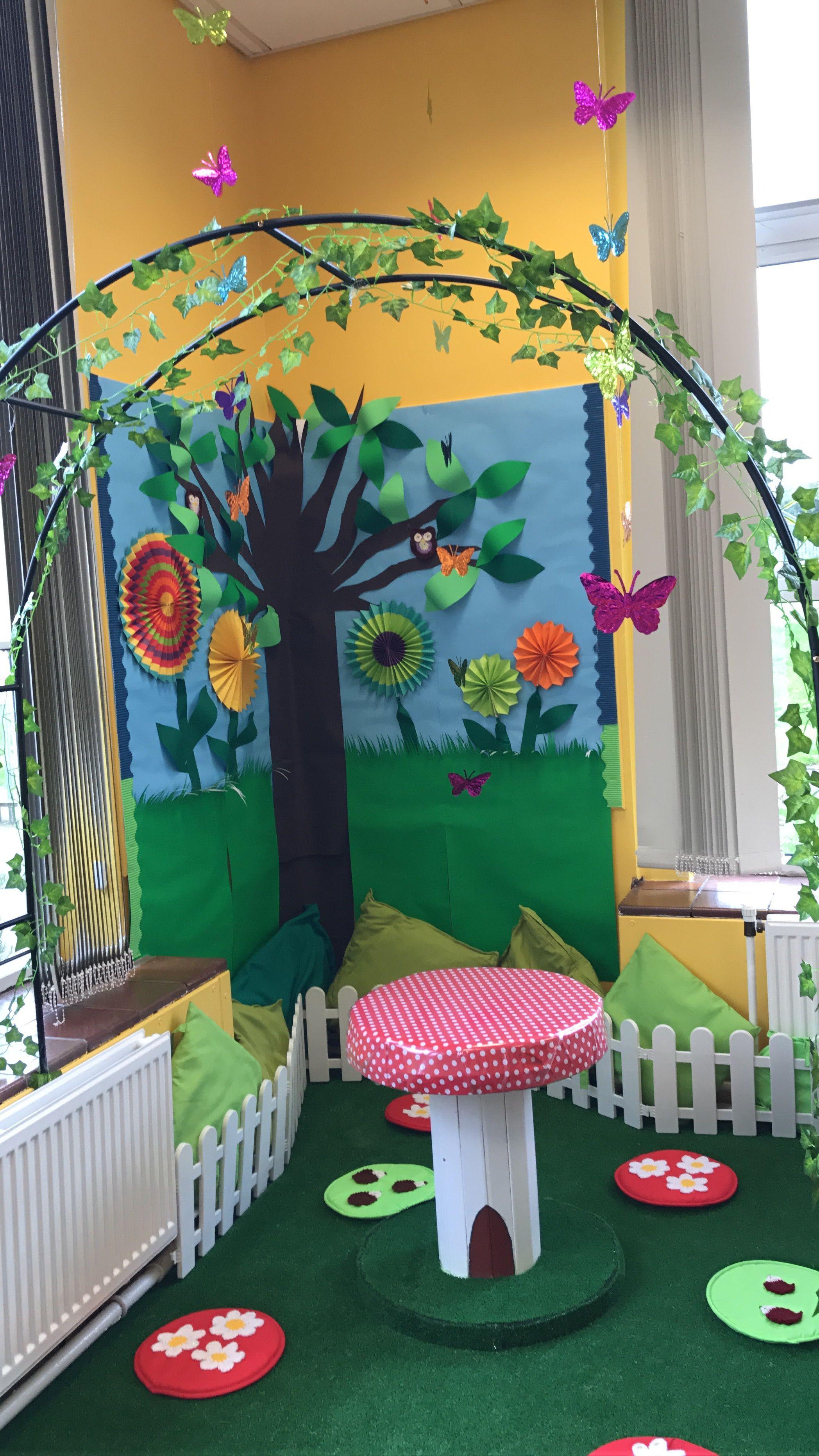 Reading Garden Ks1 Preschool Garden Garden Theme Classroom