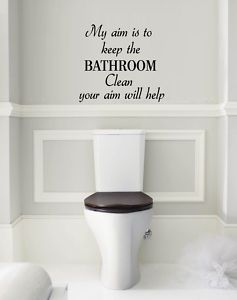 Aim To Keep The Bathroom Clean Pee Funny Wall Art Qu013