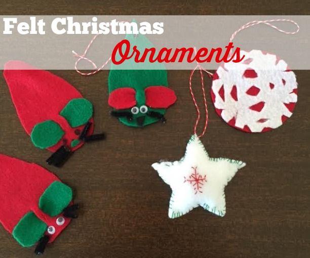 Diy christmas easy felt ornaments for kids solutioingenieria Choice Image