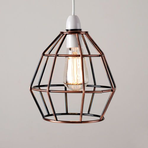Vintage industrial style metal cage wire frame ceiling pendant light vintage industrial style metal cage wire frame ceiling pendant light lamp shades greentooth Images