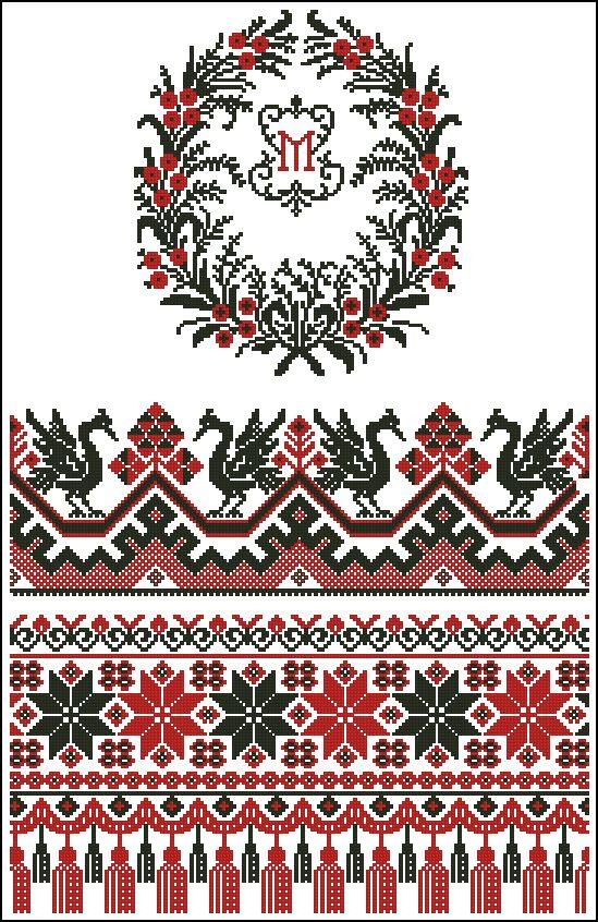 Цветы для вышивки рушника