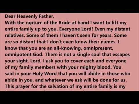 A PRAYER FOR MY FAMILY - YouTube   PRAYERS FOR ANY SITUATION