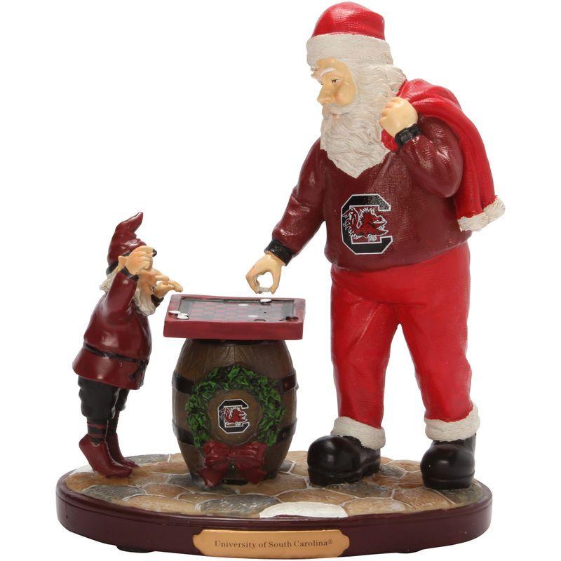 South Carolina Gamecocks Checkerboard Santa Figurine ...