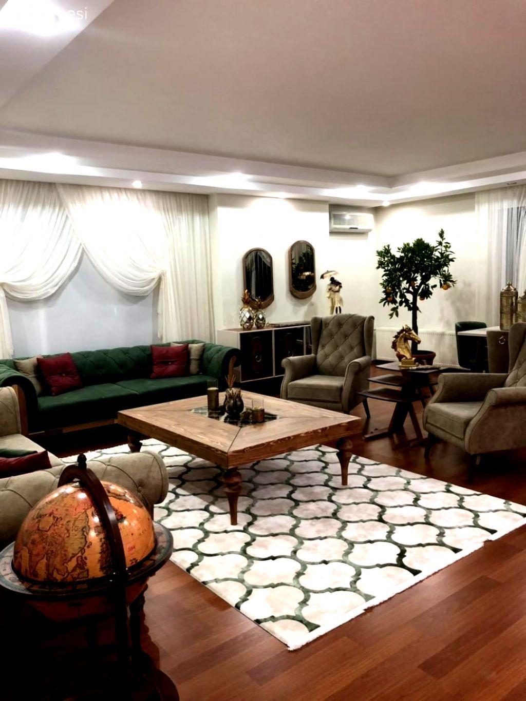Salon Yesil Kruvaze Perde Weltew Mobilya Berjer Krem O In 2020 Home Decor Styles Living Room Design Modern Home