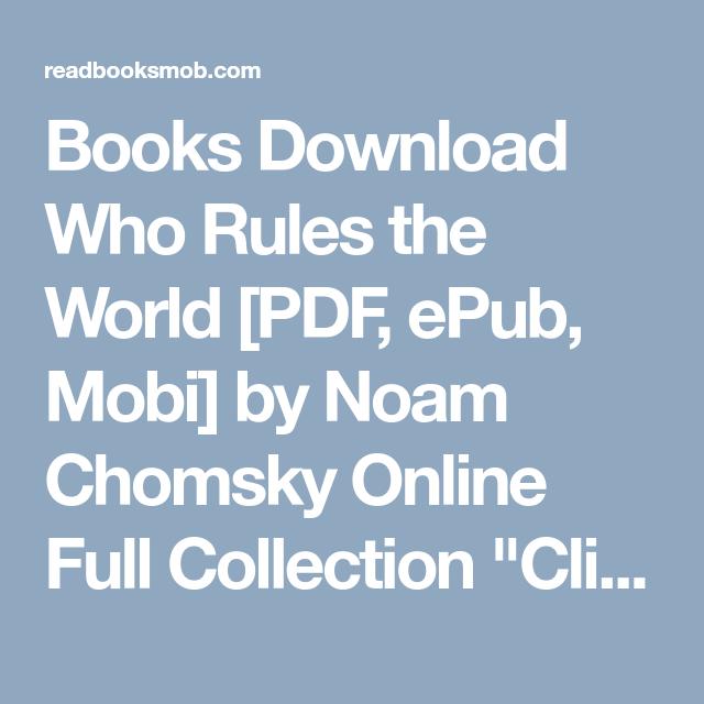 Books pdf chomsky noam