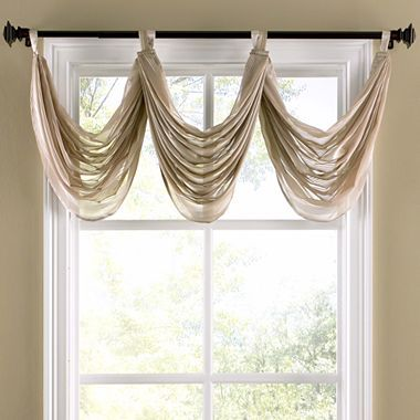 Tab Top Waterfall Valance Jcpenney Window Dressing