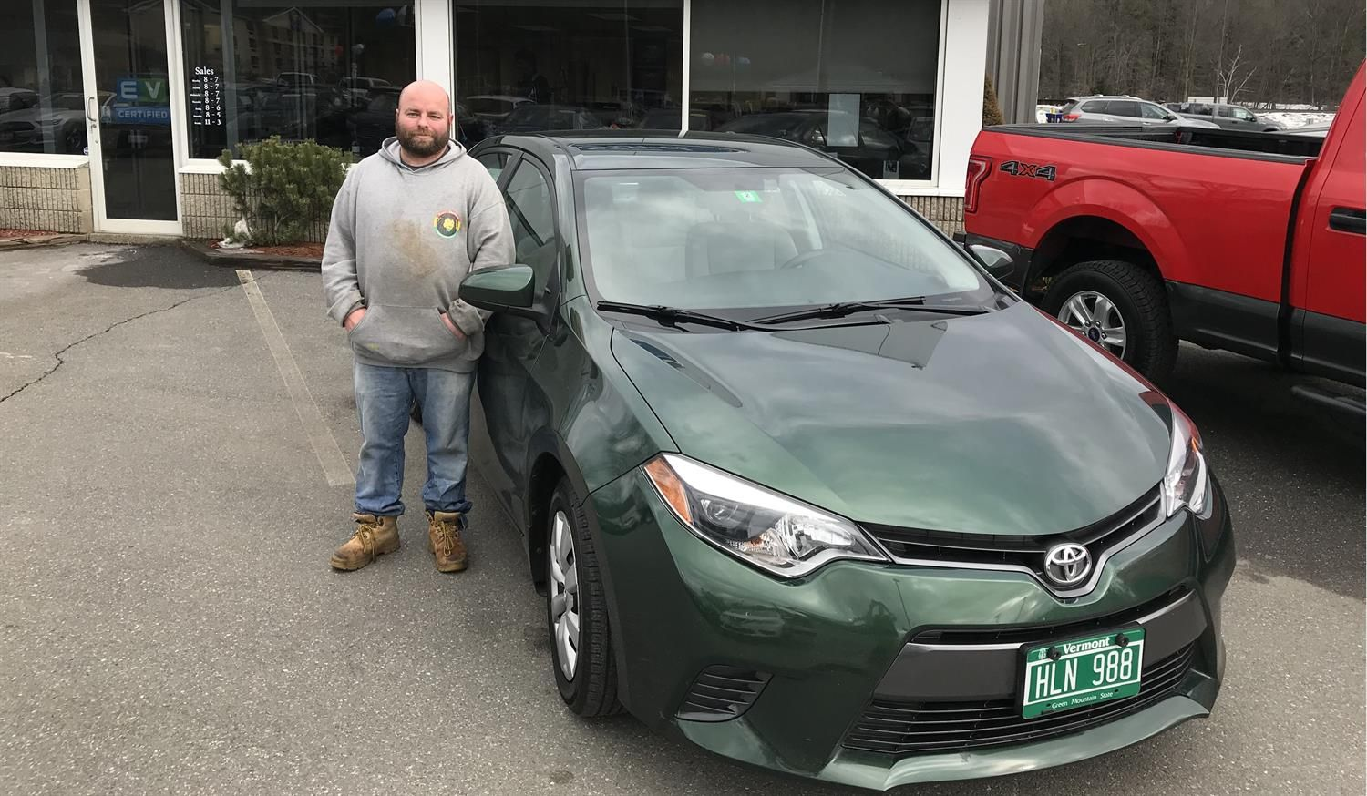 Brian's new 2016 TOYOTA COROLLA! Congratulations and best