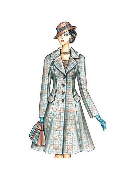 F3471   Marfy Patterns A vintage feel for this redingote-style coat ...
