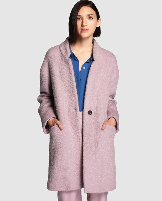 cb15ba3669fb7 Abrigo de mujer Tintoretto rosa de pelo