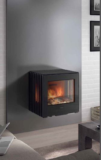 NEW Glance Wall Hung woodburning stove by Hergom.