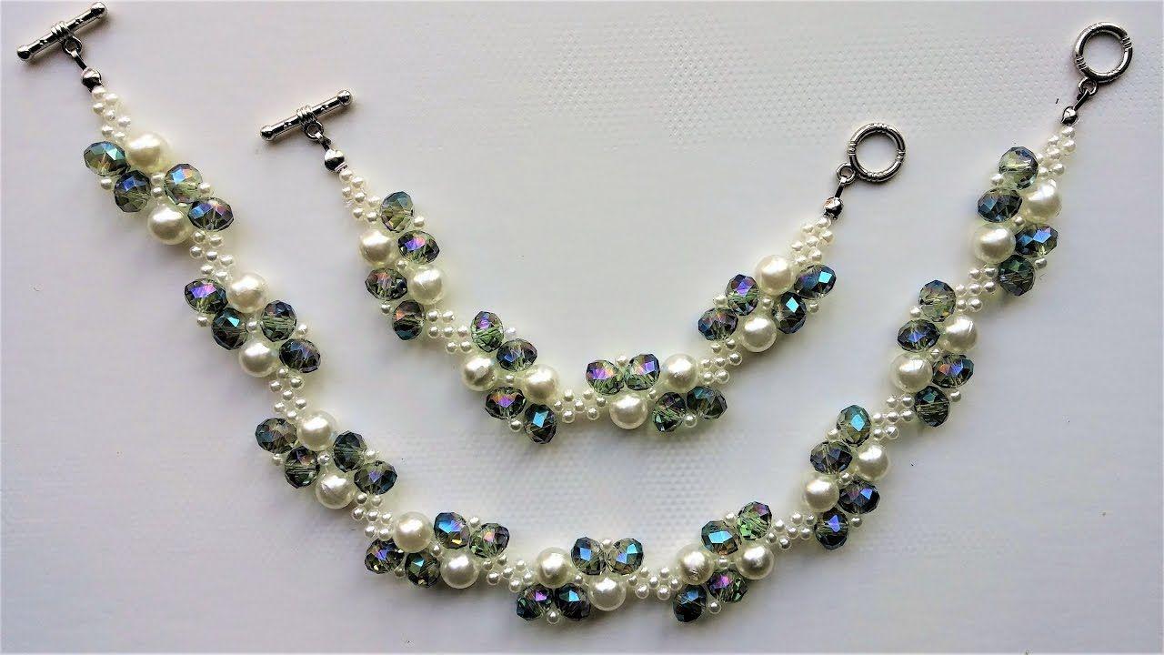 Diy elegant beads bracelet and necklace beaded