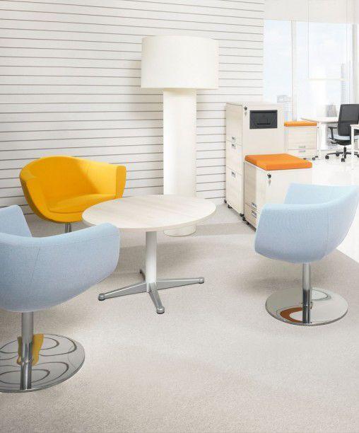 Empfangssessel Inwerk Sorris mit Tellerfuß | Empfang, Büromöbel und ...