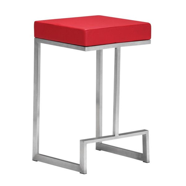 Zuo Darwen Counter Stool in Red (Set of 2) - Home Bars USA - 1