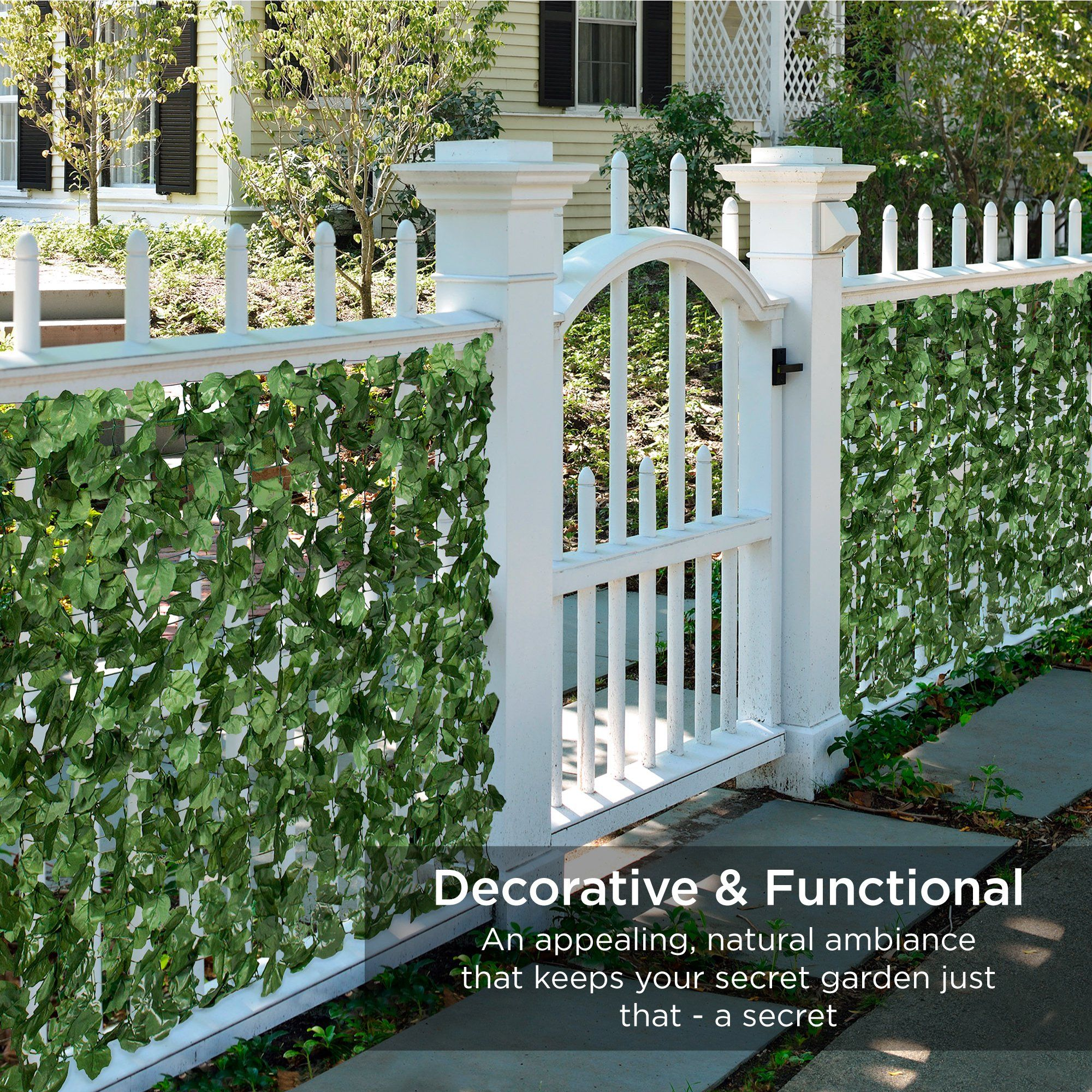 Best Choice Products 94x59in Artificial Faux Ivy Hedge Privacy Fence Screen For Outdoor Decor Garden Yard Green Walmart Com In 2020 Screen Plants Fence Screening Garden Gate Design