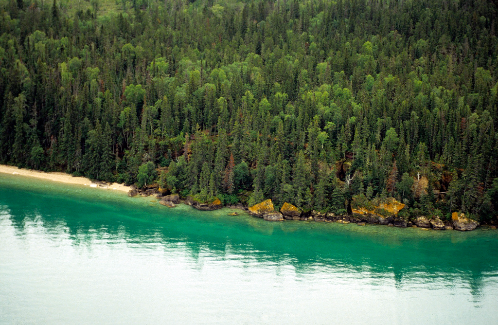 The beautiful shores of northern Manitoba. Clearwater Lake ...