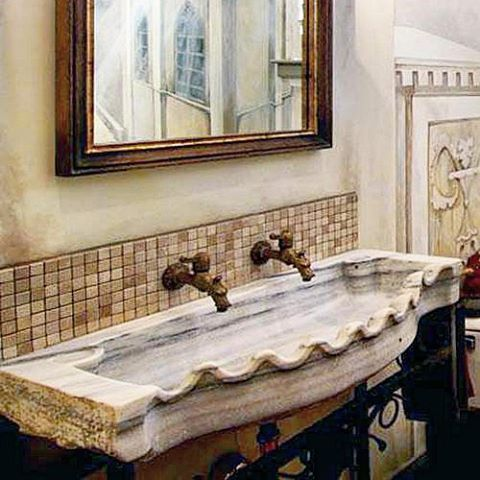 #Antique #Marble #sink By #Ancient #Surfaces. #salvaged And #