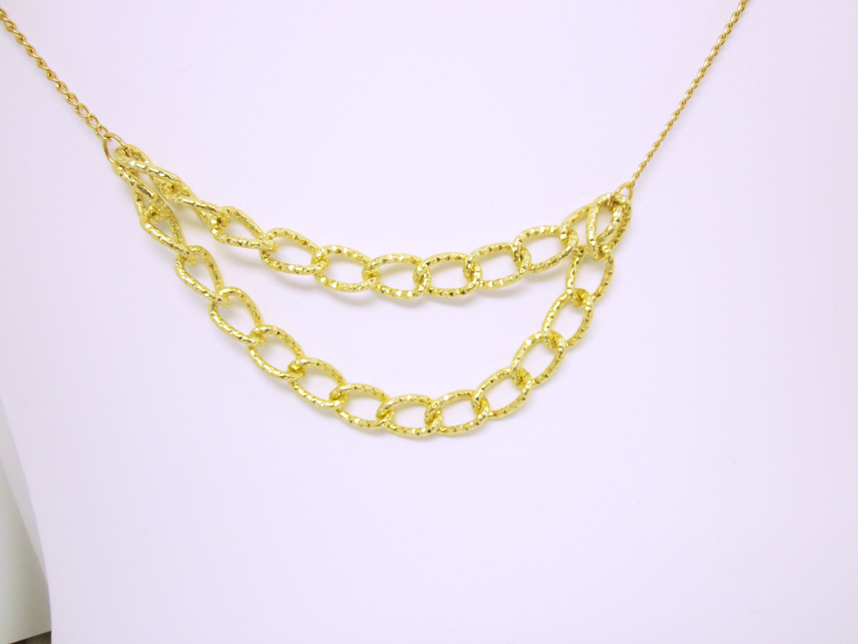 gold diamond shop figaro necklace made chain chains gevery cut