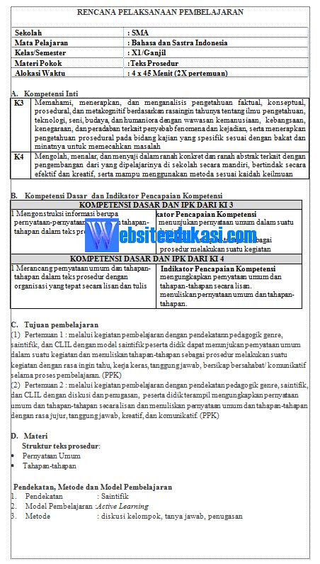 Rpp Bahasa Indonesia Kelas 11 Kurikulum 2013 Revisi 2018 Websiteedukasi Com Bahasa Bahasa Indonesia Pengetahuan