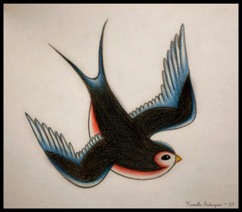 Diving Swallow Tattoo Logo The Swallow Has Always Had A Symbolic
