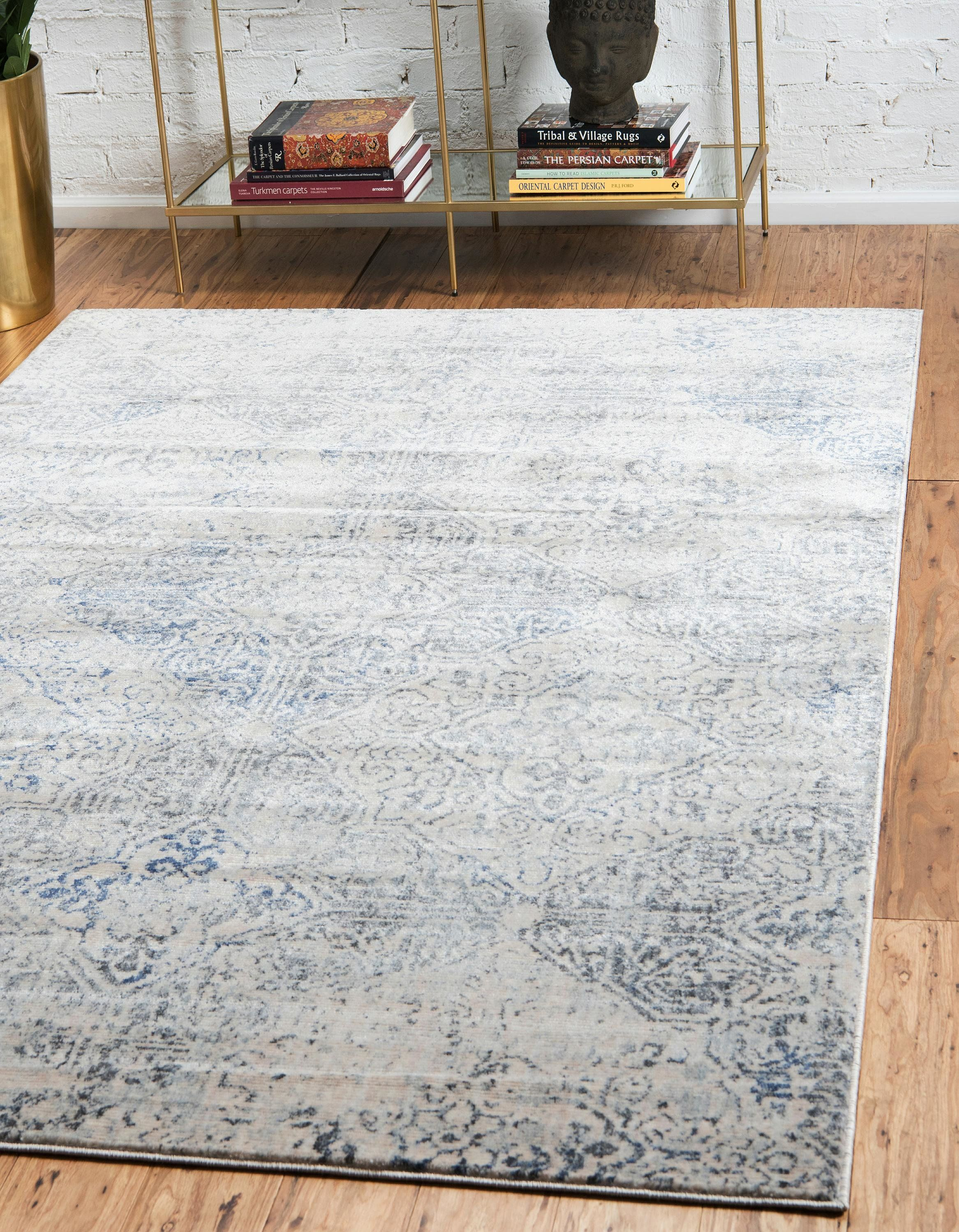 Laurel Foundry Modern Farmhouse Abbeville Gray Navy Blue Area Rug Reviews Wayfair Area Rugs 5x8 Area Rugs Grey Area Rug