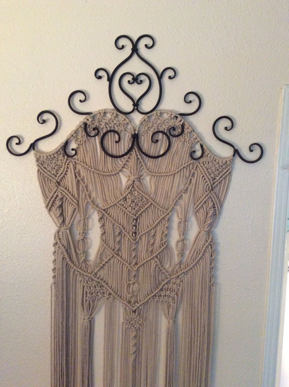 large macrame wall hanging home decor wall art macrame metal art wall - Home Decor Wall Hangings