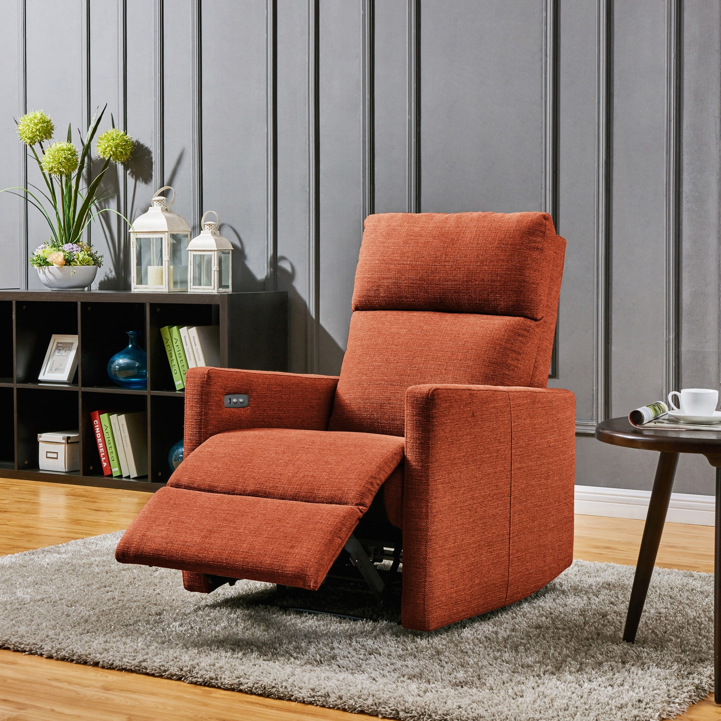 Phenomenal Prolounger Orange Power Wall Hugger Recliner Chair With Usb Pdpeps Interior Chair Design Pdpepsorg