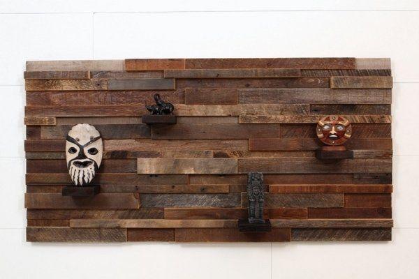Wall Art Shelf Barn Wood Recycled Modern Home Decorating Ideas