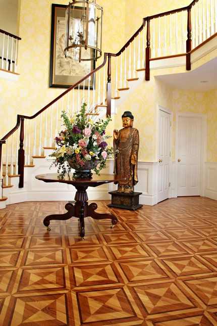 Wood Floor Faux Inlay Stencil Wood Stenciling Faux Marquetry