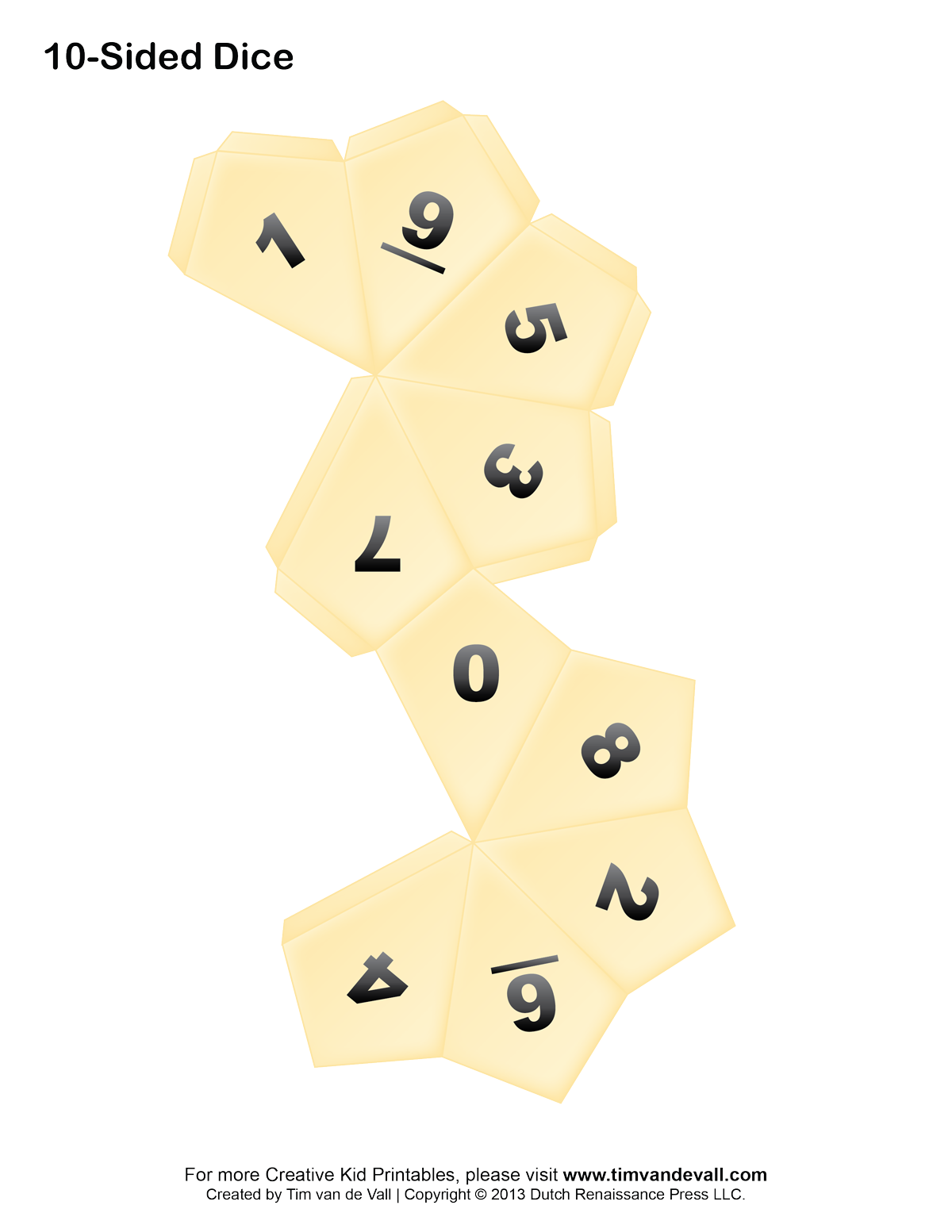 Printable Paper Dice Template Pdf: Make Your Own 6, 10 ...