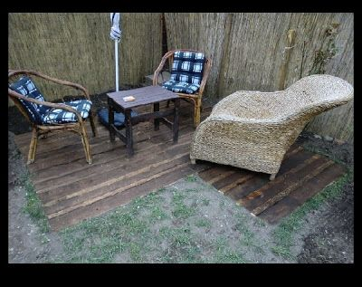 Patio Pallet Flooring Small Outdoor Patio Floor Made With Wooden Pallets