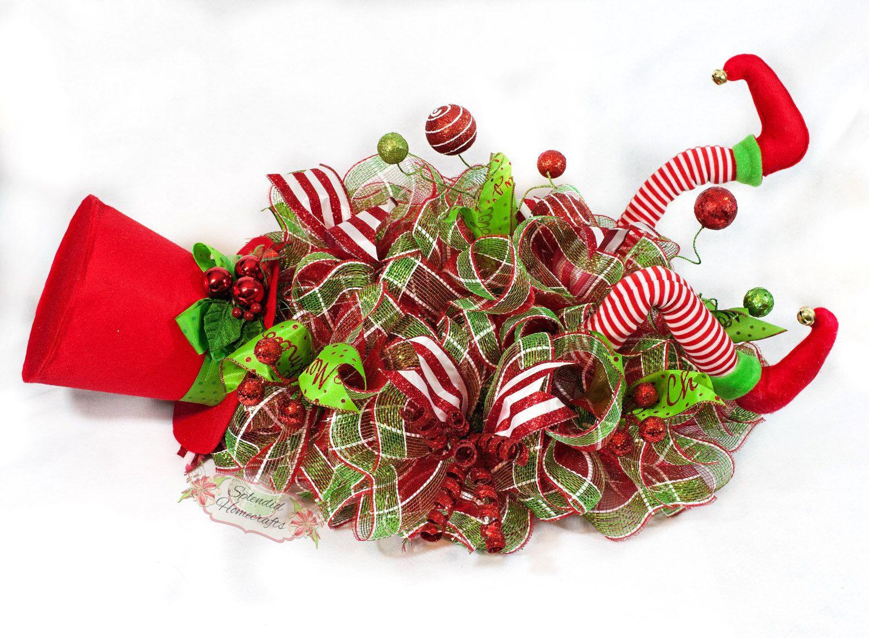 Whimsical Elf Legs Christmas Centerpiece By Splendid Homecrafts On Etsy