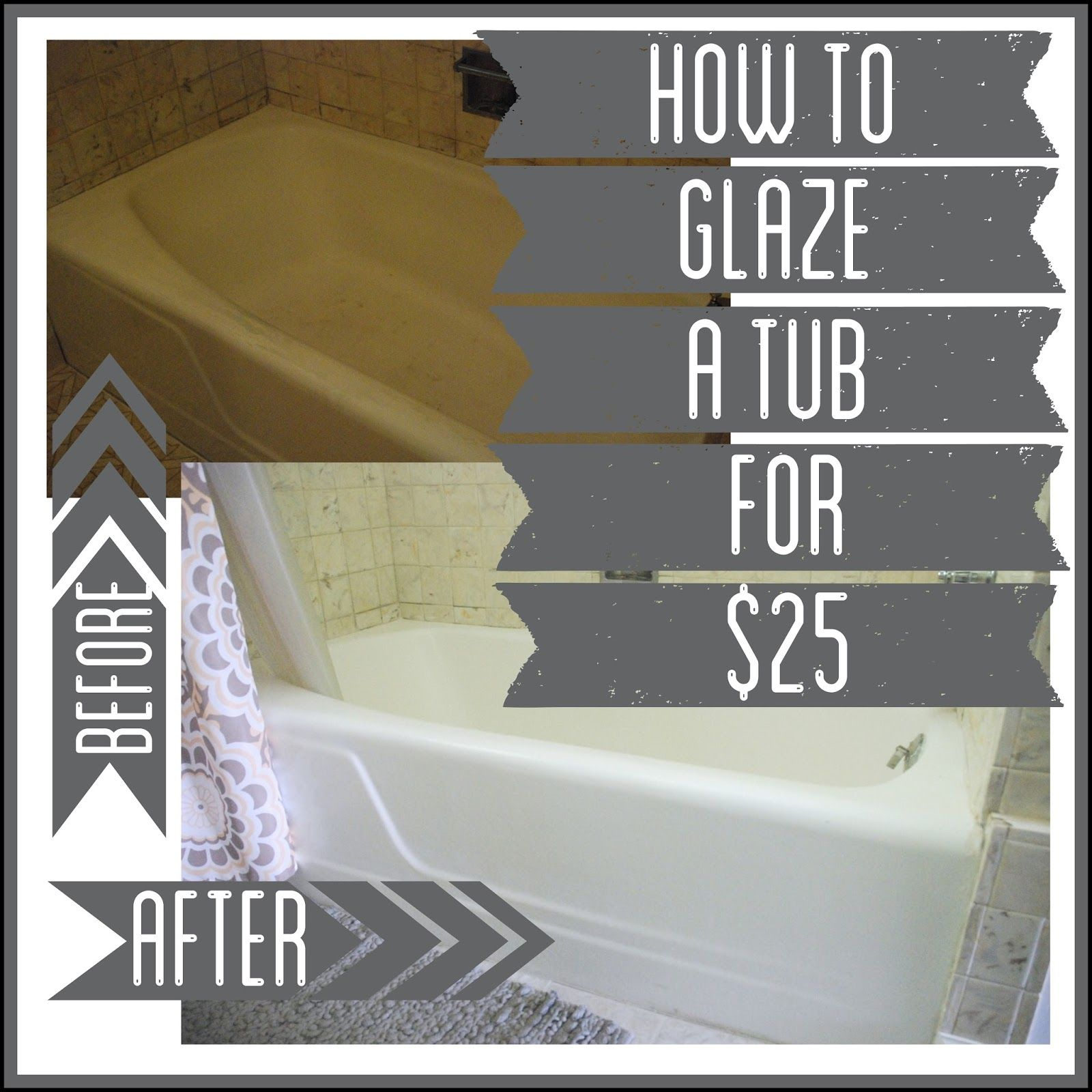 How to Glaze a Tub for $25 | Kitchen and bath ideas | Pinterest ...