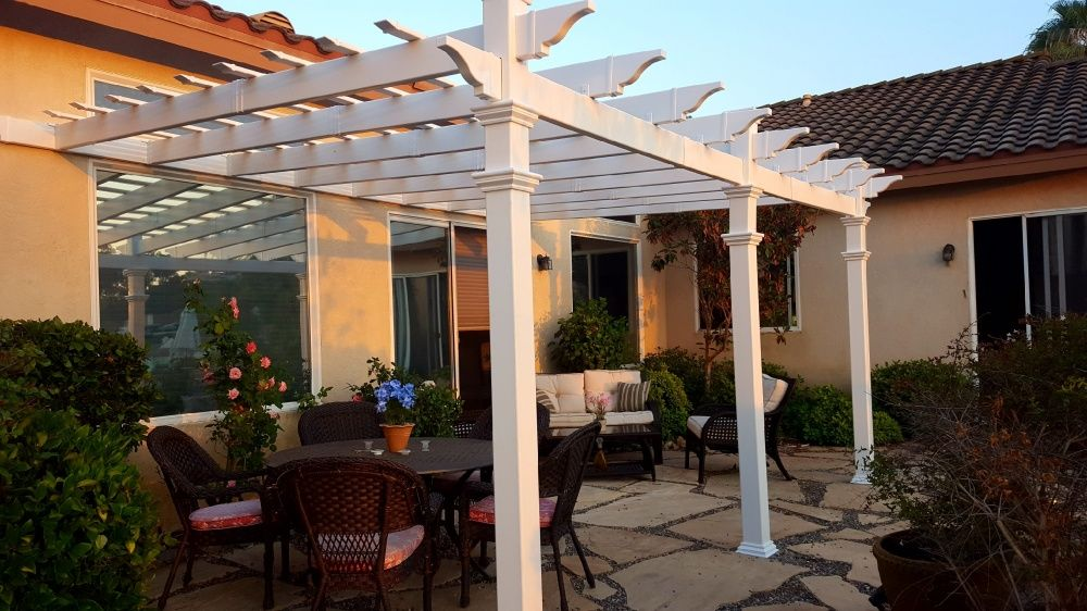 12x16 Valencia Attached Pergola Pergola Attached Pergola Diy Pergola
