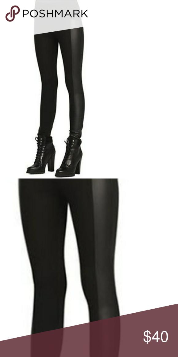 0222012f426 Black moto leggings faux leather S New black Moto leggings with faux  leather side detail size S. . Pants Leggings