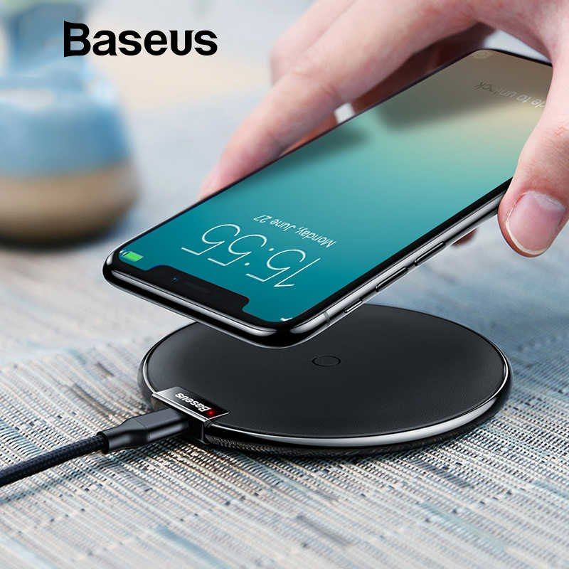 Baseus leather wireless charger for iphone xxs max xr