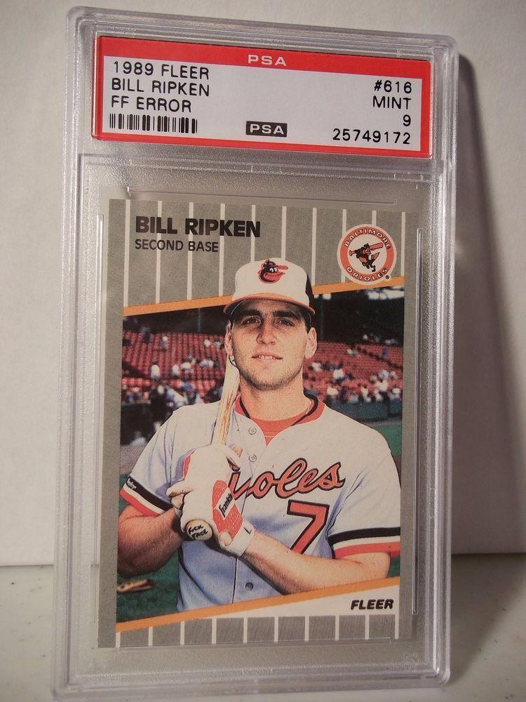 1989 Fleer Bill Ripken PSA Graded Mint 9 Baseball Card