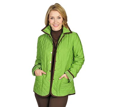 242cc44da Joan Rivers Quilted Barn Jacket with Corduroy Detail | Coats ...